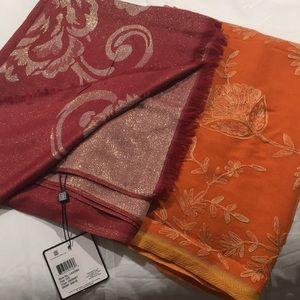 Large scarf/wrap duo